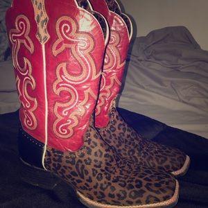 Ariat Cheetah Print Western Boots.